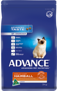 Advance Cat Dry Adult Hairball Chicken 2kg