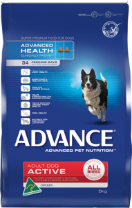Advance Dog Dry Adult ACTIVE ALL BREED CHICKEN 8KG