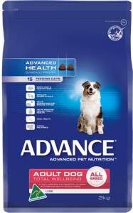 Advance Dog Dry Adult TOTAL WELLBEING ALL BREED LAMB & RICE 3KG