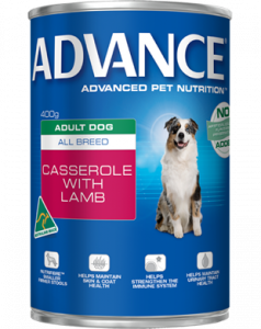 Advance Dog Wet ALL BREED CASSEROLE WITH LAMB 400G x 12