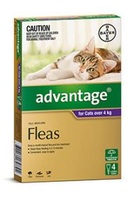 ADVANTAGE PURPLE LARGE CAT (4-8kg) 4 PACK