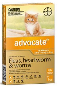 Advocate Up To 4kg Kittens and Cats Orange (1 pack)