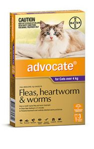 ADVOCATE PURPLE LARGE CAT (4-8kg) 3 PACK