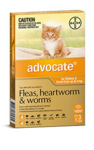 ADVOCATE ORANGE CAT/KITTEN (0-4kg) 3 PACK