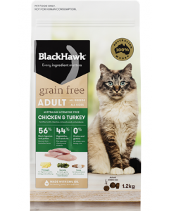 Black Hawk Adult Feline Grain Free Chicken and Turkey
