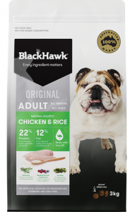 Black Hawk Adult Canine Chicken and Rice 20kg
