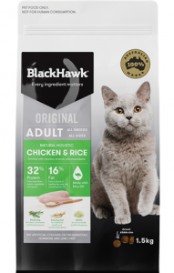 Black Hawk Adult Feline Chicken And Rice 1.5kg