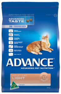 Advance Cat Dry Adult LIGHT CHICKEN 3KG