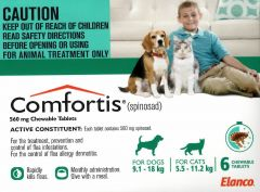 Comfortis Green 6 Tablets 9.1-18kg (dogs) 5.5-11.2kg (cats)