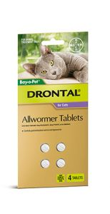 Drontal Cat Bayer New Range 4 Tablets