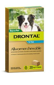 Drontal For Medium Dogs 10Kg Chewable 20'S