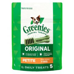Greenies TRIAL PACK Petite (7-11kg) 85g (5 daily treats)