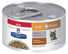 Hill Prescription Feline k/d & Mobility Chicken & Vegetable Stew 82g x 24