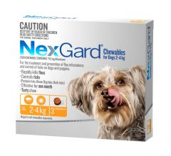 NexGard 3-Pack for Dogs 2 - 4kg