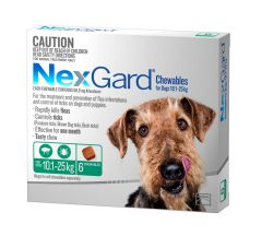 NexGard 6-Pack for Dogs 10.1 - 25kg 6 pack