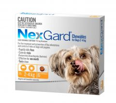 NexGard 6-Pack for Dogs 2 - 4kg