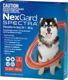 NexGard Spectra 3-Pack for Dogs 30.1 -60KG