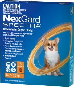 NexGard Spectra 6-Pack for Dogs 2-3.6KG