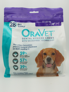 Oravet Dental Hygiene Chews for Medium Dogs (11-23kg) 28 pack