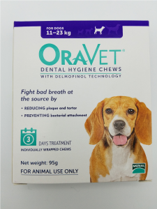 Oravet Dental Hygiene Chews for Medium Dogs (11-23kg) Trial 3 pack