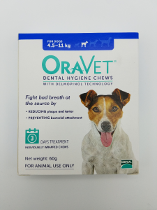 Oravet Dental Hygiene Chews for Small Dogs (4.5-11kg) Trial 3 pack