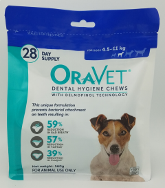 Oravet Dental Hygiene Chews for Small Dogs (4.5-11kg) 28 pack