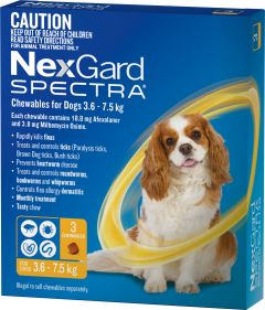NexGard Spectra 3-Pack for Dogs 3.6-7.5KG