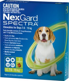 NexGard Spectra 3-Pack for Dogs 7.6 -15KG