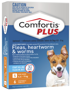 Comfortis Plus 4.6-9kg Orange 6 Tablets (Previously known as Panoramis)