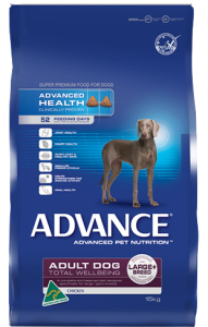 Advance Dog Dry Adult LARGE BREED TOTAL WELLBEING CHICKEN 15kg