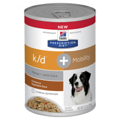 Hills Prescription Diet Canine K/D + Mobility Chicken and Vegetable Stew 354g x 12