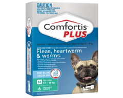 Comfortis Plus 9.1-18kg Green 6 Tablets (Previously known as Panoramis)