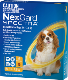 NexGard Spectra 6-Pack for Dogs 3.6-7.5KG